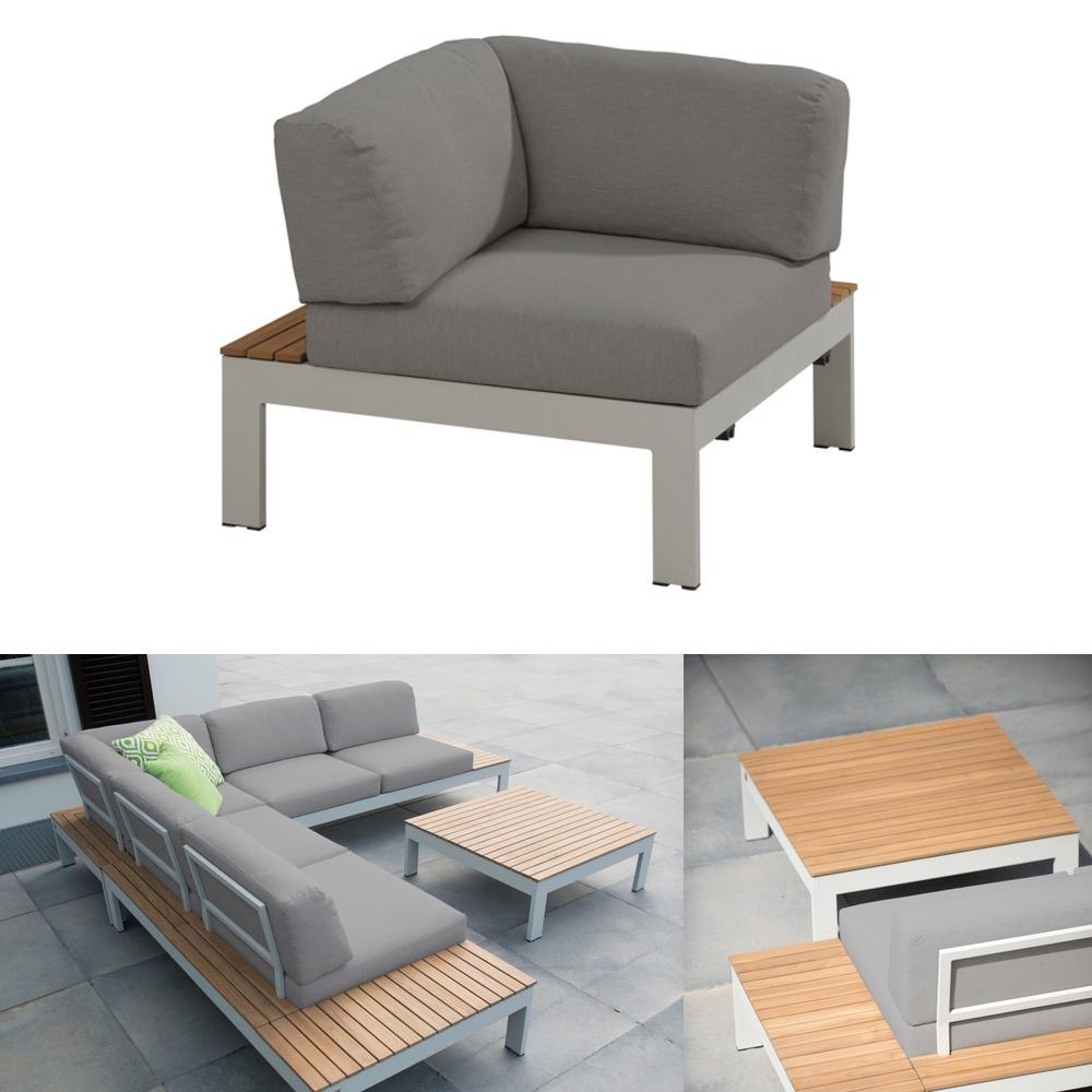 gartenstuhl 4seasons mistral eckelement aluminiumgestell teakholz kissen gartenm bel fachhandel. Black Bedroom Furniture Sets. Home Design Ideas