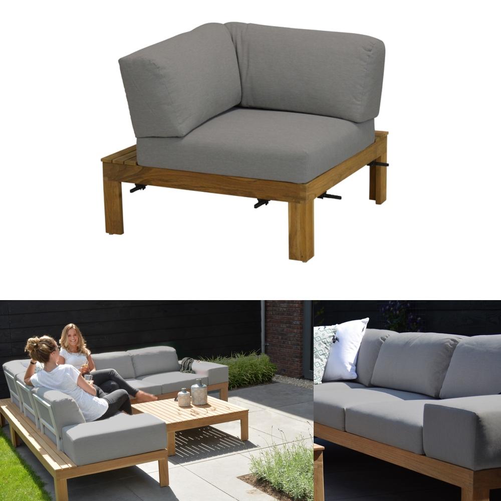 gartenstuhl 4seasons mistral teak eckelement teakholz kissen gartenm bel fachhandel. Black Bedroom Furniture Sets. Home Design Ideas