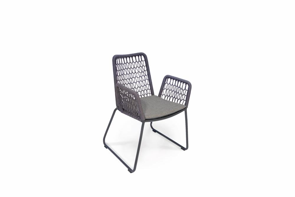 Gartenstuhl Fischer Wing Light Sessel Anthrazit Aluminium