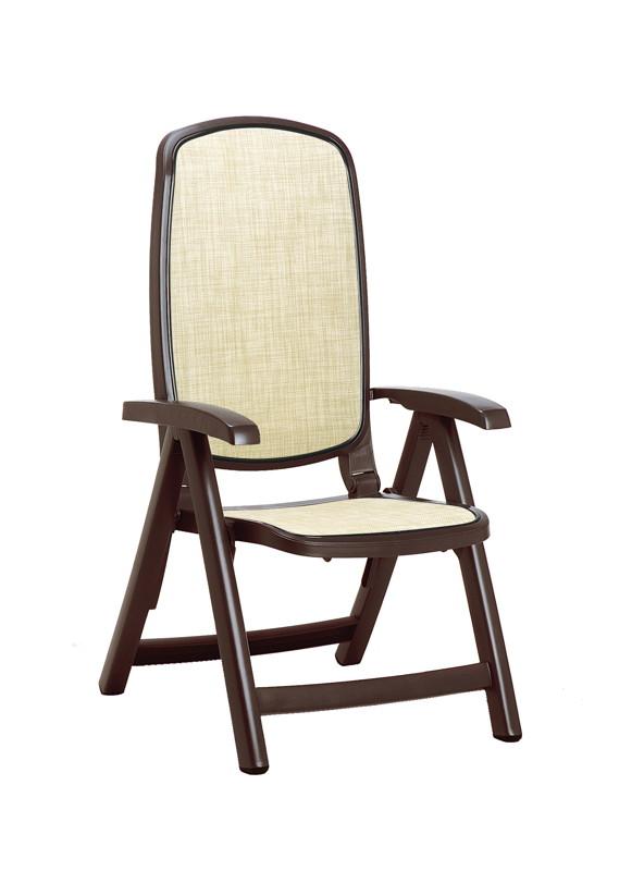 gartenstuhl nardi delta hochlehner braun beige klappsessel kunststoffsessel vom spielger te. Black Bedroom Furniture Sets. Home Design Ideas