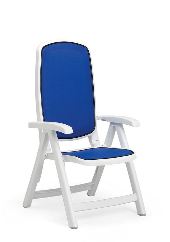 Gartenstühle kunststoff blau  Gartenstuhl NARDI «Delta Hochlehner weiß/blau» Klappsessel ...