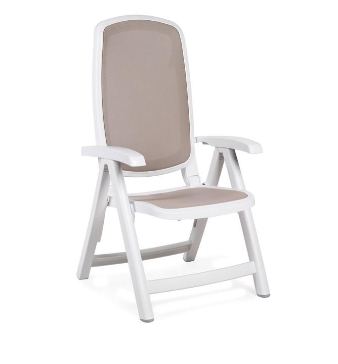 gartenstuhl nardi delta hochlehner wei taupe klappsessel kunststoffsessel vom spielger te. Black Bedroom Furniture Sets. Home Design Ideas