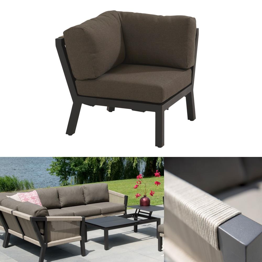 gartenstuhl 4seasons oslo loungeeckelement geflechtlounge mit kissen gartenm bel fachhandel. Black Bedroom Furniture Sets. Home Design Ideas