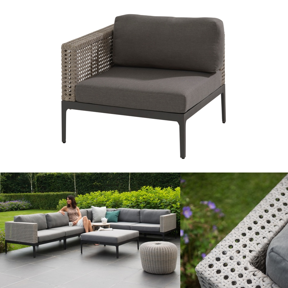 gartenstuhl 4seasons triana loungeeckelement geflechtlounge mit kissen gartenm bel fachhandel. Black Bedroom Furniture Sets. Home Design Ideas