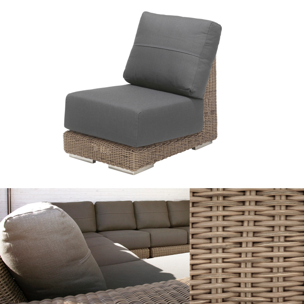gartenstuhl 4seasons kingston pure loungemodul mittelelement korbm bel gartenm bel fachhandel. Black Bedroom Furniture Sets. Home Design Ideas
