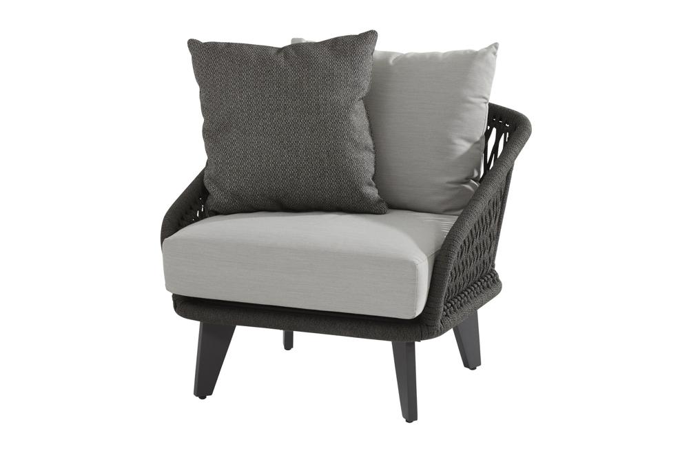 Gartensessel 4Seasons «Belize» Lounge-Sessel mit Kissen Geflecht Rattan |  vom Garten-Fachhändler
