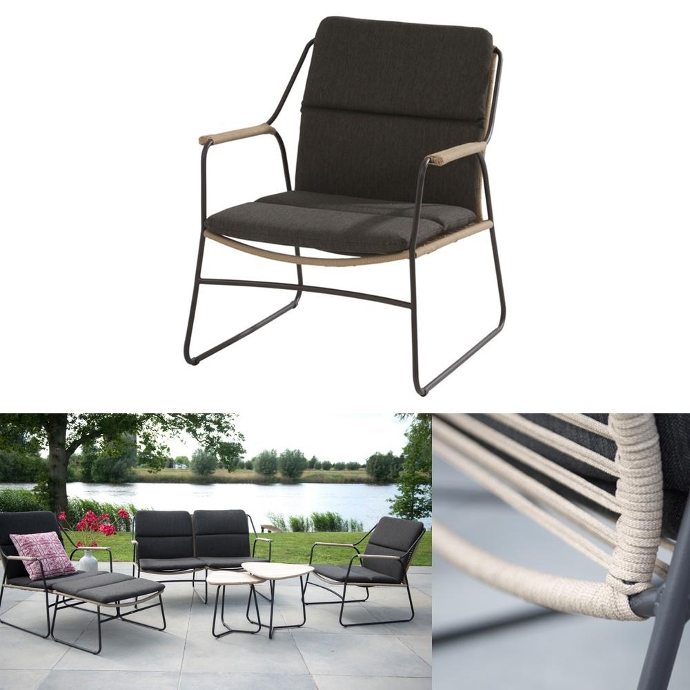 gartenstuhl 4seasons scandic loungesessel geflechtsessel mit kissen gartenm bel fachhandel. Black Bedroom Furniture Sets. Home Design Ideas