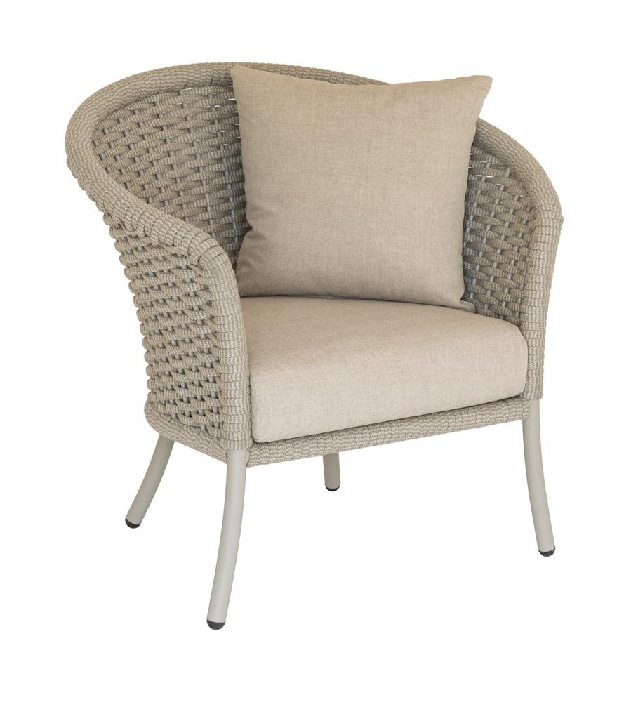 Gartenstuhl Alexander Rose Cordial Lounge Rund Beige Sessel Kissen