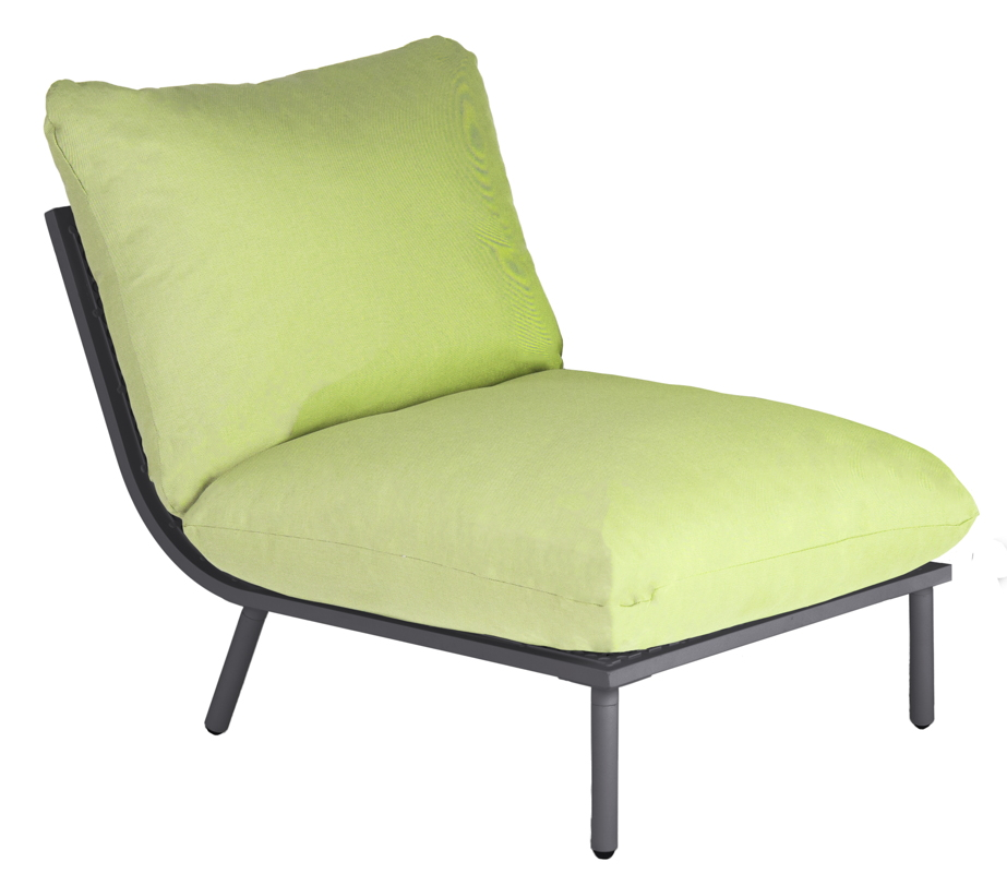 gartenlounge alexander rose beach flint lounge mittelelement kissen lime gartenm bel. Black Bedroom Furniture Sets. Home Design Ideas