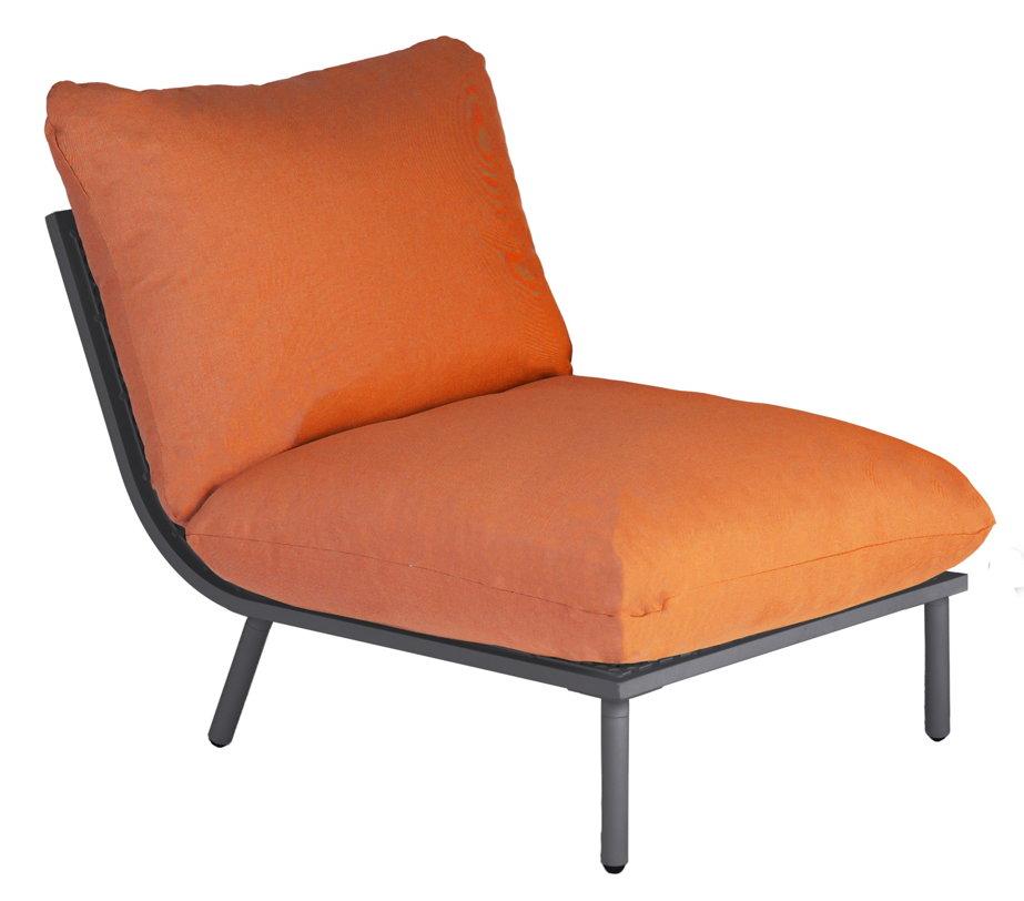 gartenlounge alexander rose beach flint lounge mittelelement kissen orange gartenm bel. Black Bedroom Furniture Sets. Home Design Ideas