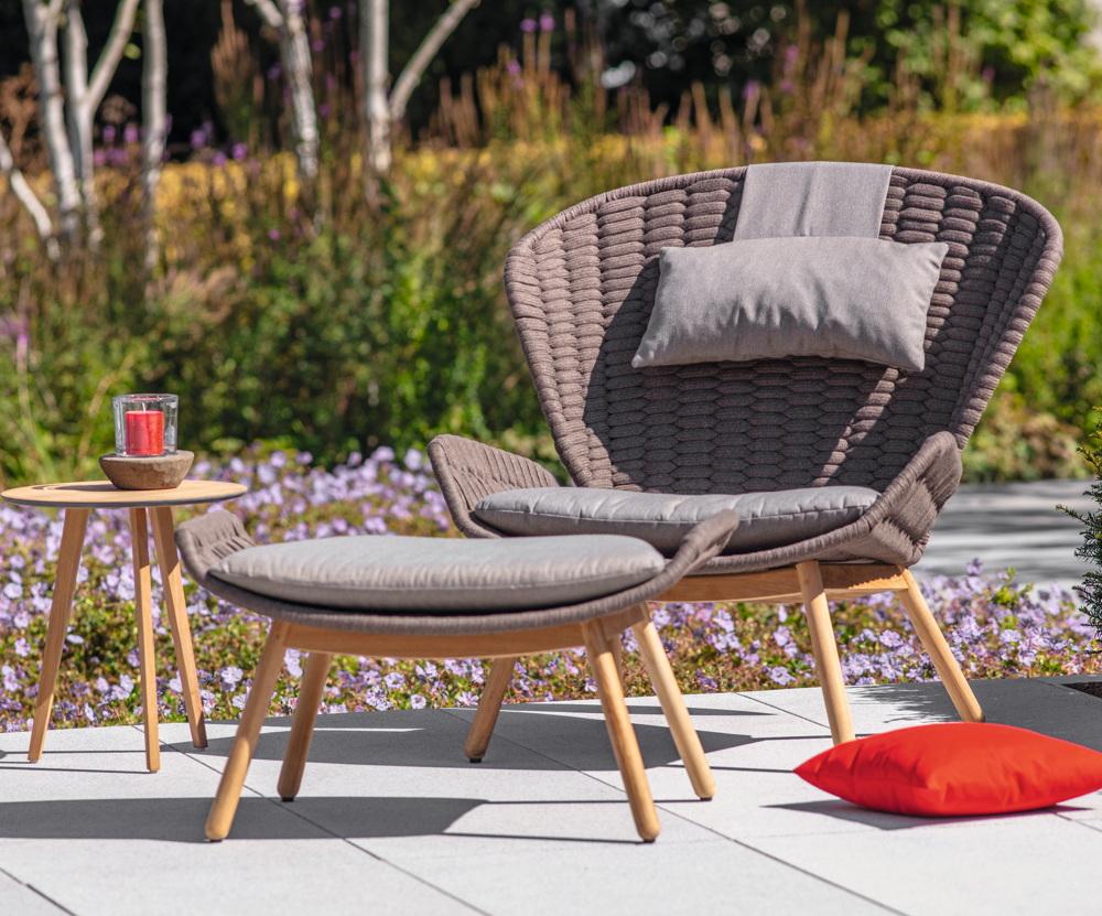 Gartenstuhl FISCHER «Wing Relax Sessel Loungesessel basalt» Aluminium | vom  Garten-Fachhändler