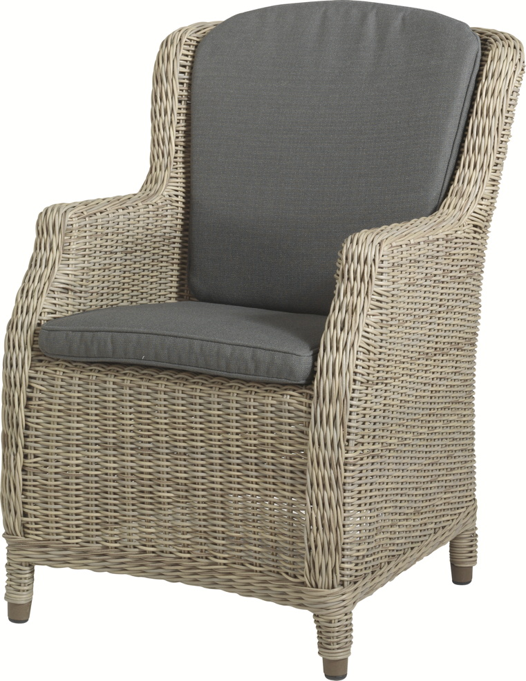 gartenstuhl 4seasons brighton pure sessel geflecht rattan mit kissen gartenm bel fachhandel. Black Bedroom Furniture Sets. Home Design Ideas