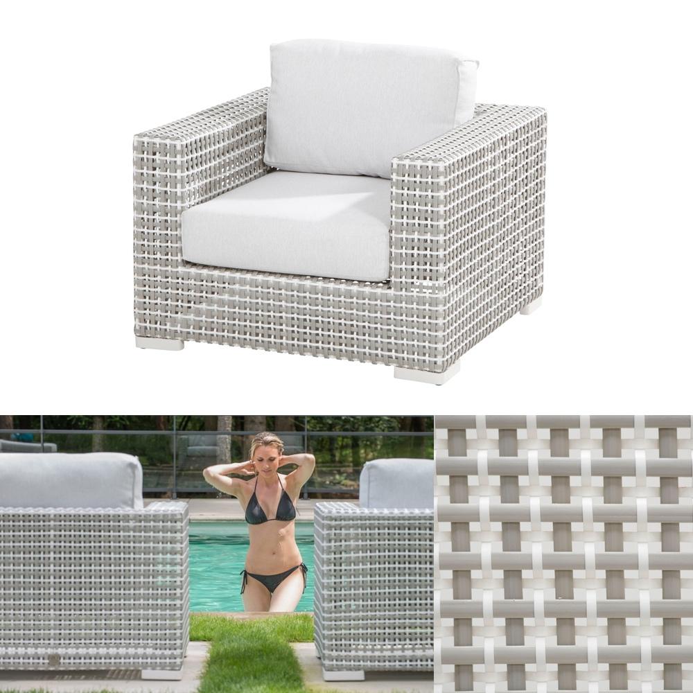 gartenstuhl 4seasons madras sessel korbsessel geflechtsessel mit kissen gartenm bel fachhandel. Black Bedroom Furniture Sets. Home Design Ideas