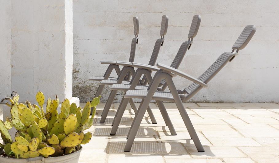 gartenstuhl nardi acquamarin hochlehner taupe. Black Bedroom Furniture Sets. Home Design Ideas