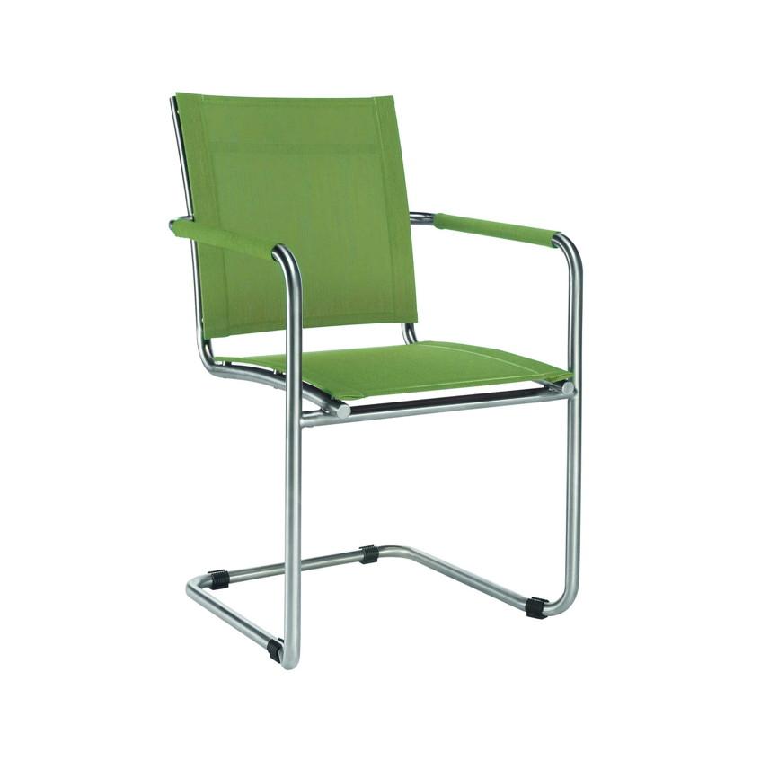 gartenstuhl niehoff nils freischwinger batyline polster gr n gartenm bel fachhandel. Black Bedroom Furniture Sets. Home Design Ideas