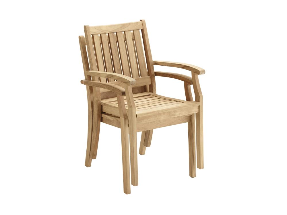 Gartenstühle holz stapelbar  Gartenstuhl SOLPURI «Windsor Stapelsessel» Teakholz, Holzstuhl ...