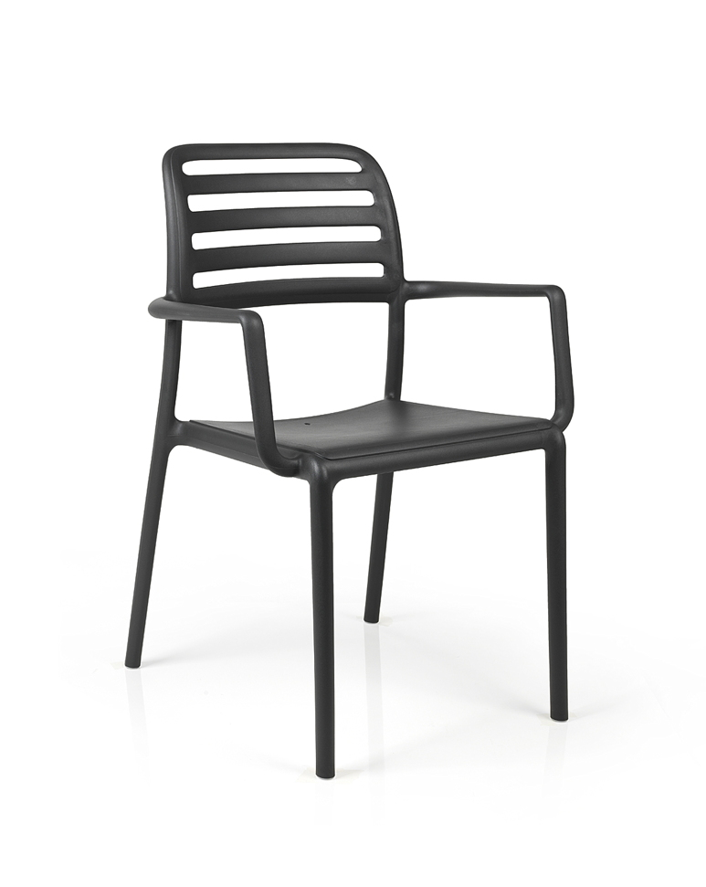 gartenstuhl nardi costa bistro anthrazit stapelsessel. Black Bedroom Furniture Sets. Home Design Ideas