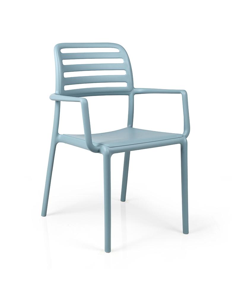 gartenstuhl nardi costa bistro hellblau stapelsessel kunststoffsessel gartenm bel fachhandel. Black Bedroom Furniture Sets. Home Design Ideas