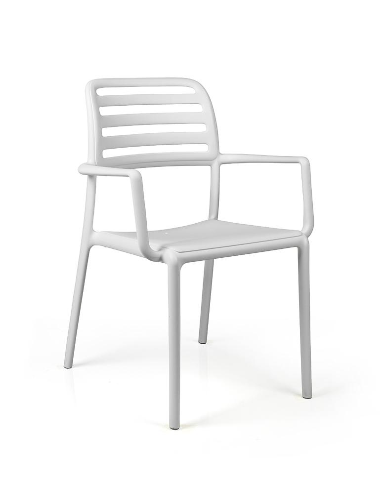 Gartenstühle kunststoff  Gartenstuhl NARDI «Costa Bistro weiß» Stapelsessel, Kunststoffsessel ...
