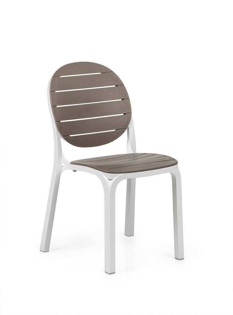 gartenstuhl nardi erica wei taupe stapelstuhl kunststoffstuhl gartenm bel fachhandel. Black Bedroom Furniture Sets. Home Design Ideas