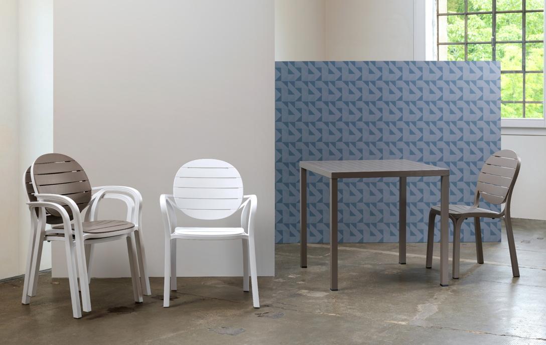gartenstuhl nardi palma wei stapelsessel kunststoffstuhl nardi gartenm bel serie. Black Bedroom Furniture Sets. Home Design Ideas