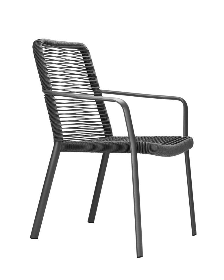 gartenstuhl solpuri air stapelsessel anthrazit aluminiumgestell mit string gartenm bel. Black Bedroom Furniture Sets. Home Design Ideas