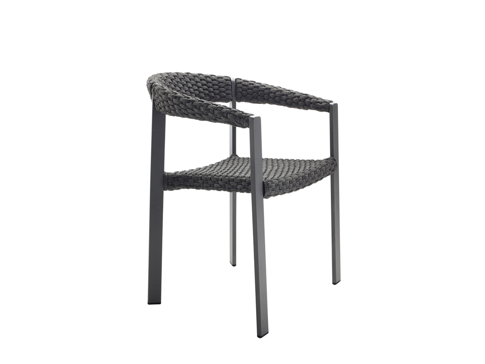 gartenstuhl solpuri cloud stapelsessel anthrazit aluminiumgestell mit string gartenm bel. Black Bedroom Furniture Sets. Home Design Ideas