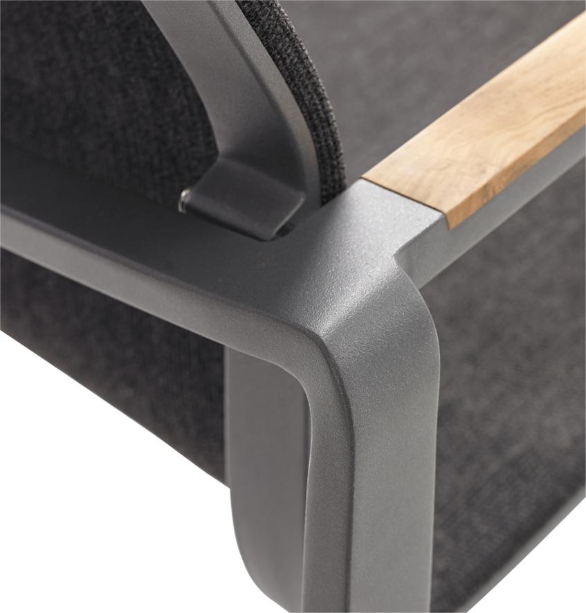 gartenstuhl solpuri foxx stapelsessel anthrazit. Black Bedroom Furniture Sets. Home Design Ideas