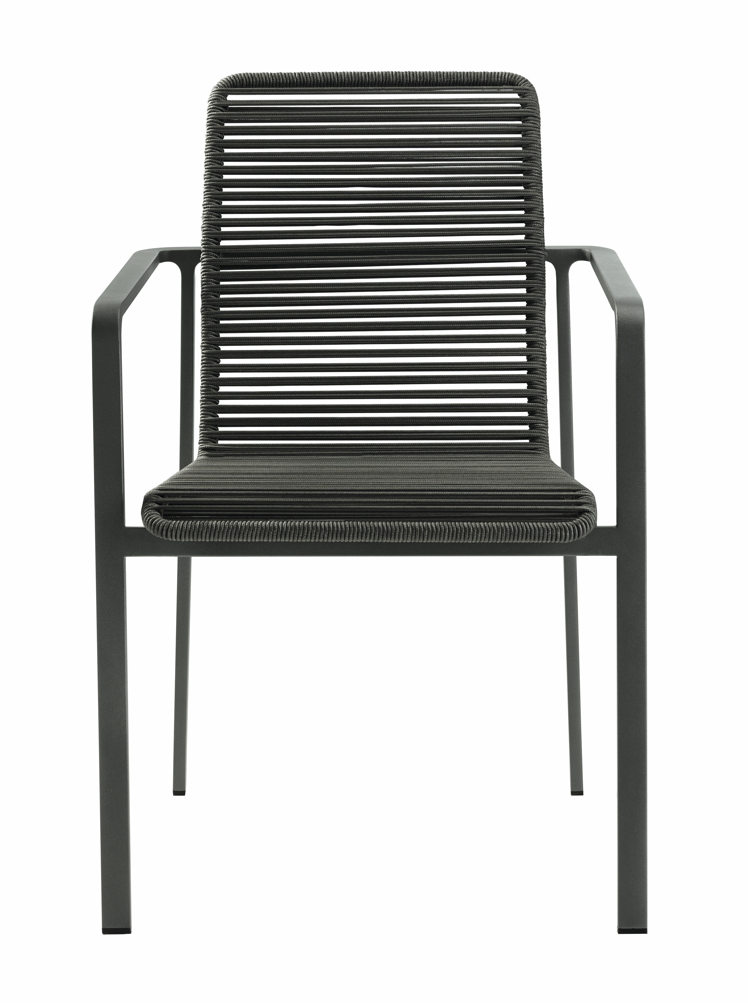 gartenstuhl solpuri jazz stapelsessel anthrazit edelstahl string flex gartenm bel fachhandel. Black Bedroom Furniture Sets. Home Design Ideas
