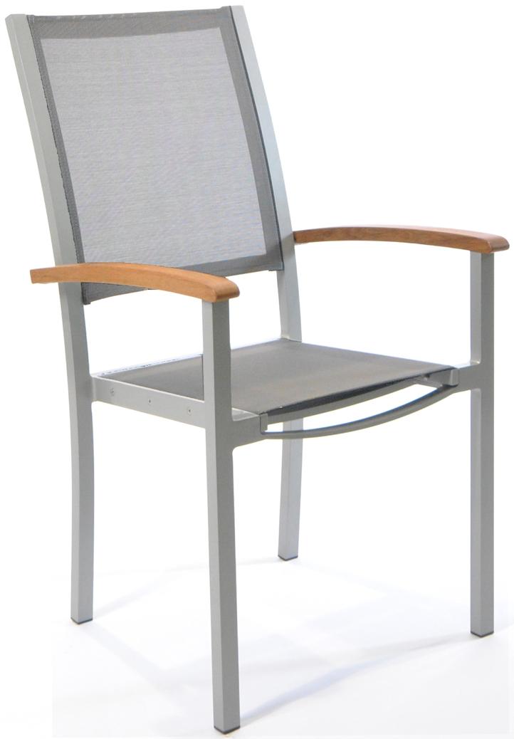gartenstuhl fischer forum hochlehner gewebe anthrazit aluminium silber gartenm bel fachhandel. Black Bedroom Furniture Sets. Home Design Ideas