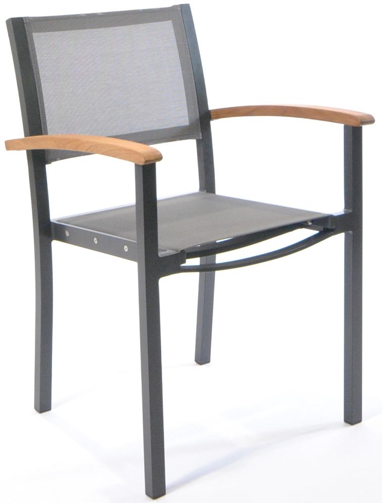 gartenstuhl fischer forum stapelsessel gewebe anthrazit aluminium anthrazit gartenm bel. Black Bedroom Furniture Sets. Home Design Ideas