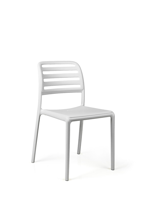Gartenstuhl Nardi Costa Bistro Weiß Stapelstuhl Kunststoffstuhl