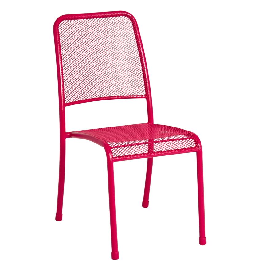Gartenstuhl Alexander Rose «Portofino Pink» Stapelstuhl, Metallstuhl