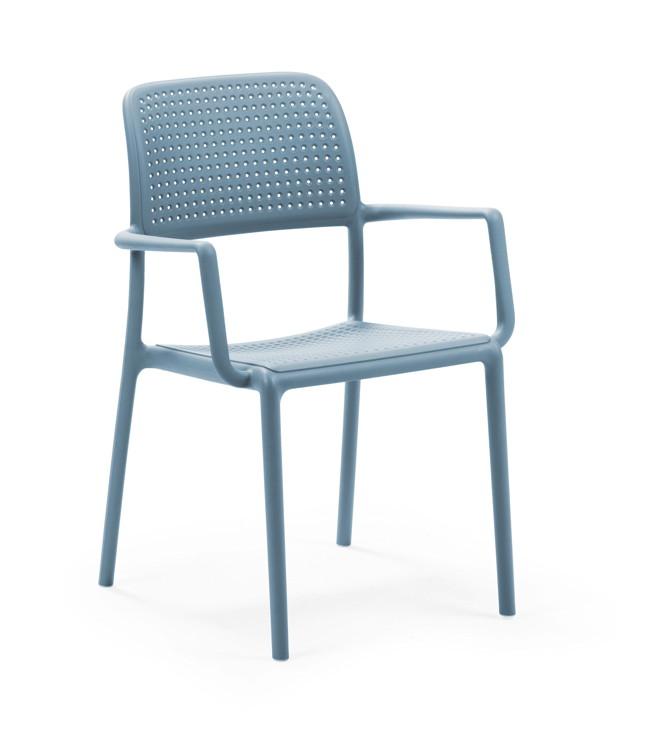 Gartenstuhl NARDI «Bora blau» Stapelsessel, Kunststoffstuhl ...