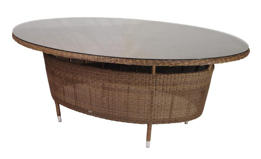 Gartentisch Alexander Rose San Marino Esstisch Oval Mit Glasplatte
