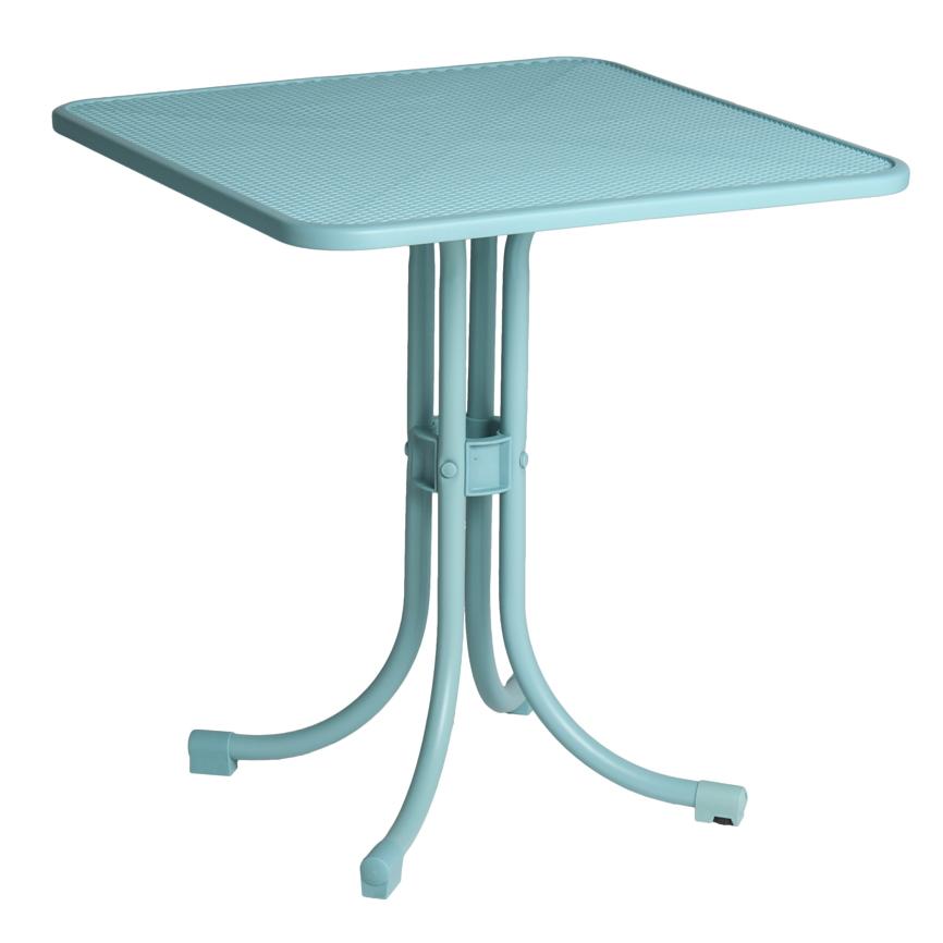 Gartentisch 70x70 Metall Simple Tisch Bistro X Nonwood Schwarz
