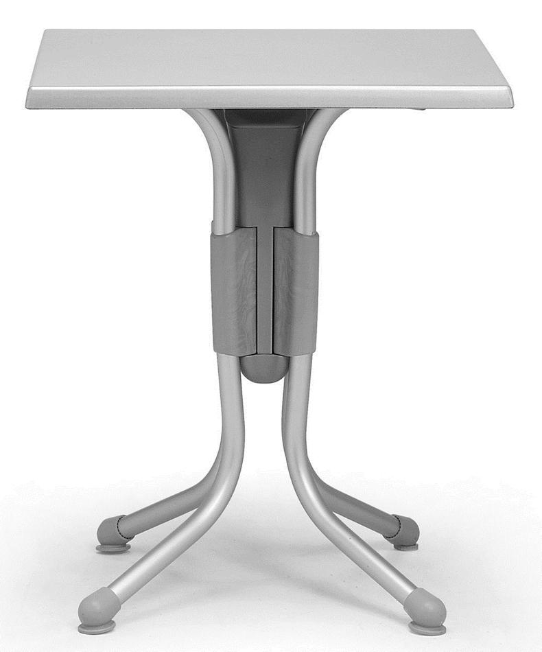 Gartentisch Nardi Polo Bistrotisch 60x60cm Werzalit Grau