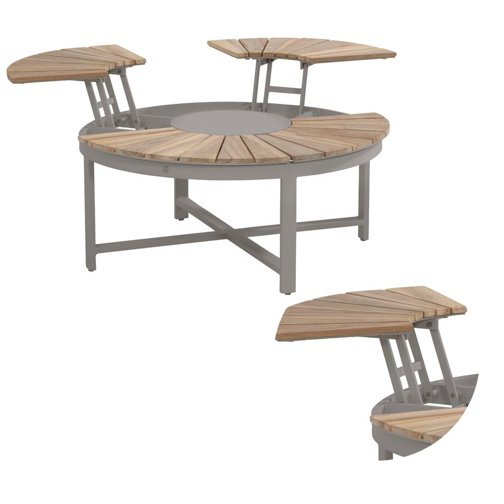 gartentisch 4seasons forio couchtisch 105 alugestell smokegrau teakholzplatte 4 seasons. Black Bedroom Furniture Sets. Home Design Ideas