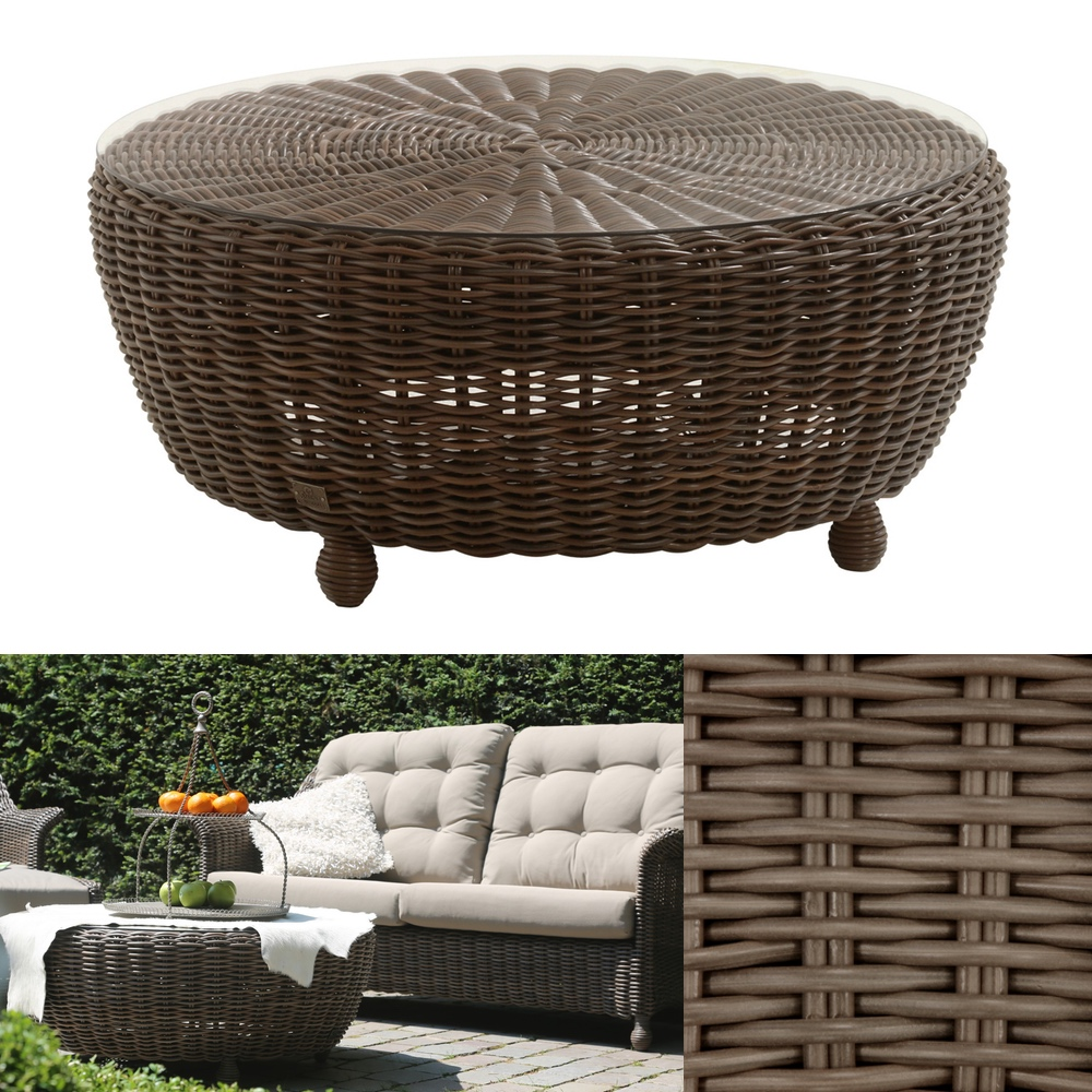 gartentisch 4seasons madoera couchtisch mit glasplatte polyrattan premium gartenm bel fachhandel. Black Bedroom Furniture Sets. Home Design Ideas