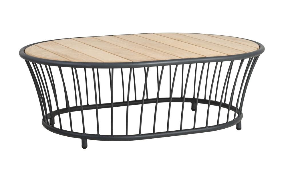 Ovaler Gartentisch.Gartentisch Alexander Rose Cordial Grau Couchtisch 120x85 Holztischplatte Vom Garten Fachhändler