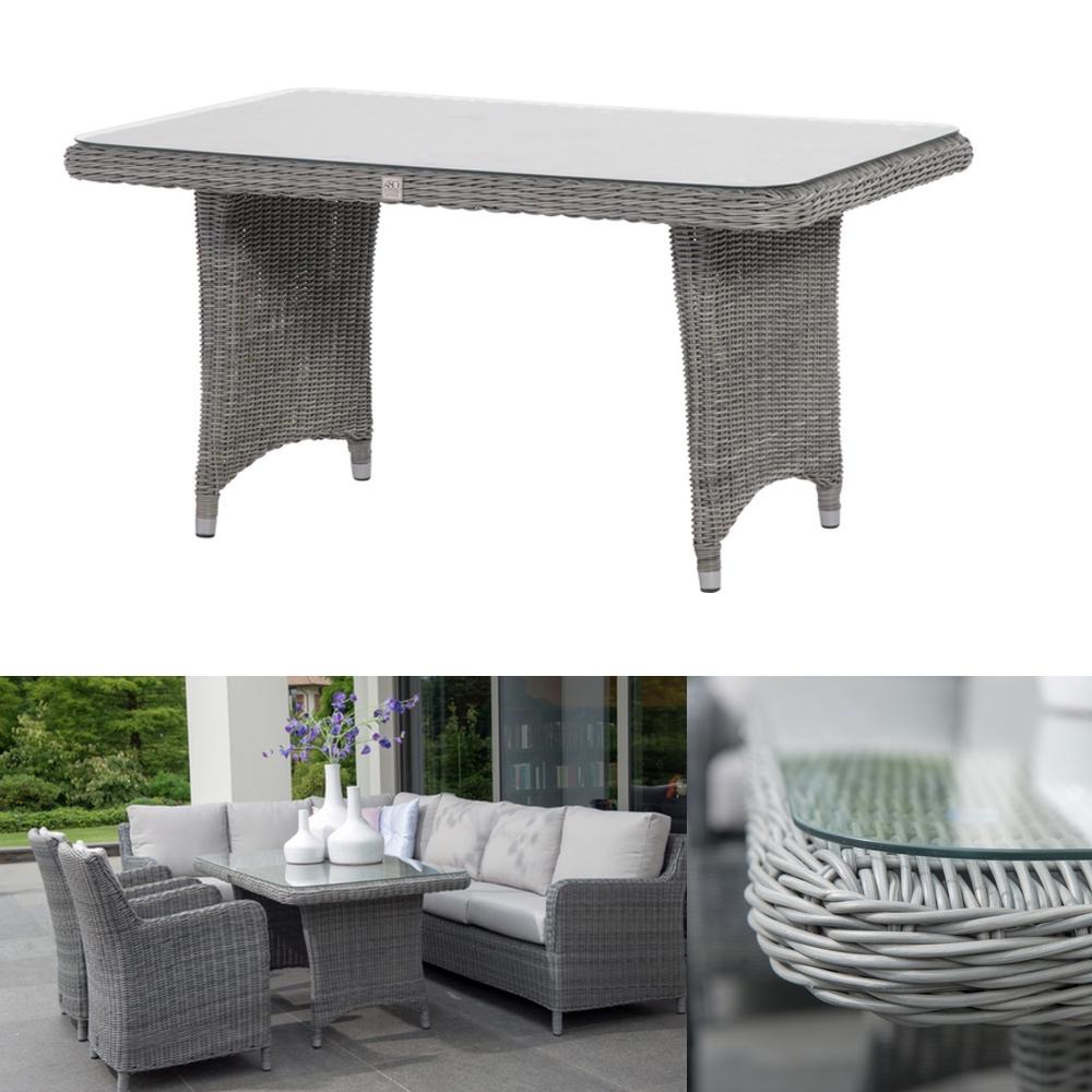 Gartentisch «Indigo ROCK» Esstisch Polyrattan-Geflecht Tisch mit ...