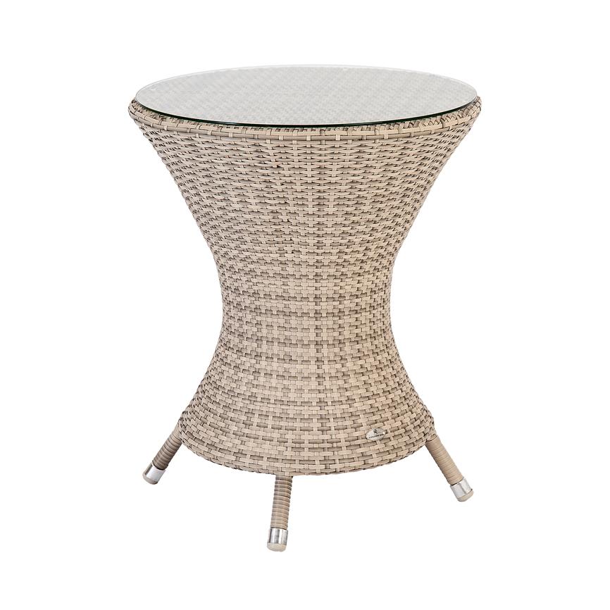 gartentisch alexander rose ocean wave pearl bistrotisch rund korbtisch vom garten fachh ndler. Black Bedroom Furniture Sets. Home Design Ideas