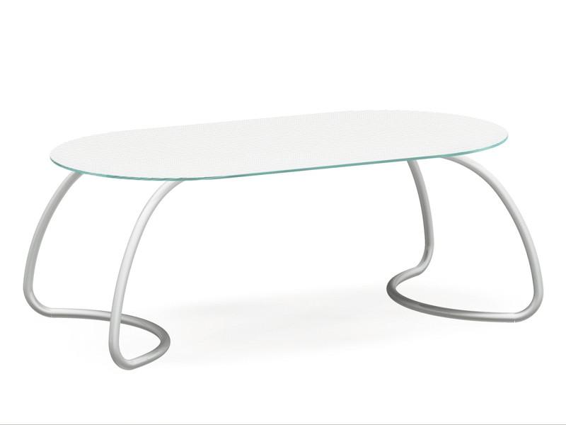 Gartentisch Nardi Loto 190x100cm Weiss Esstisch Glasplatte