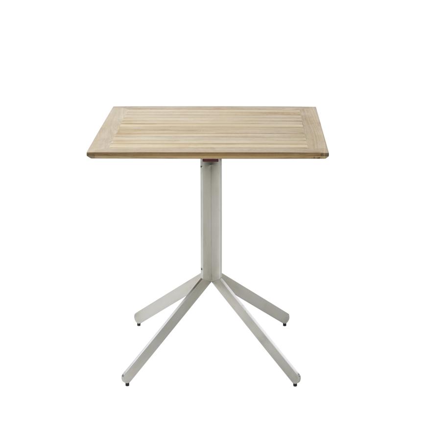 Gartentisch Solpuri Yix Klapptisch 70x70 Teakholz Holztisch