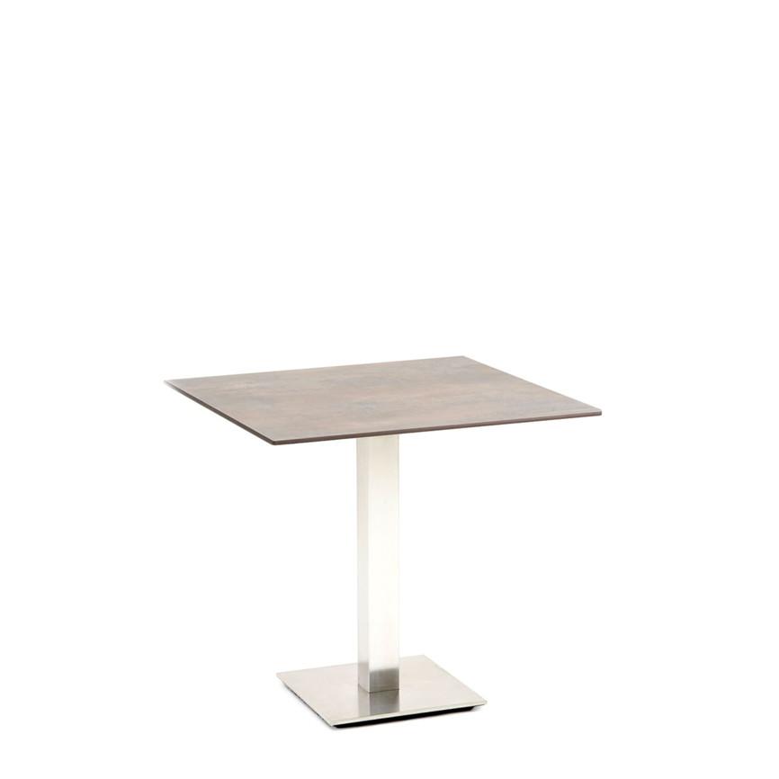 gartentisch niehoff bistrotisch 68x68 hpl grau braun design esstisch gartenm bel fachhandel. Black Bedroom Furniture Sets. Home Design Ideas