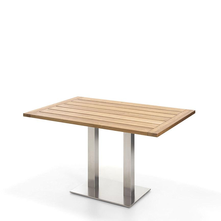 gartentisch niehoff bistrotisch 140x95 teak recycled. Black Bedroom Furniture Sets. Home Design Ideas