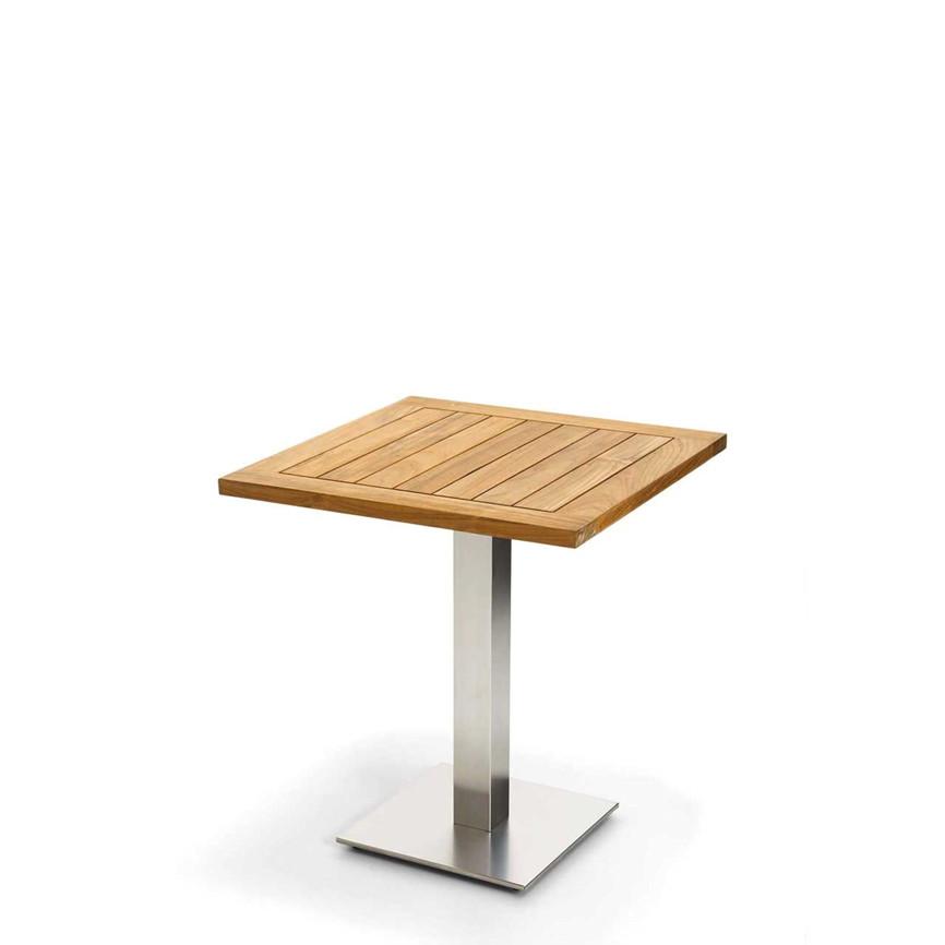 gartentisch niehoff bistrotisch 95x95 teak ge lt. Black Bedroom Furniture Sets. Home Design Ideas