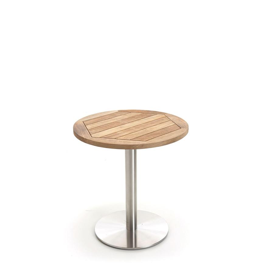 gartentisch niehoff bistrotisch 95cm teak recycled. Black Bedroom Furniture Sets. Home Design Ideas
