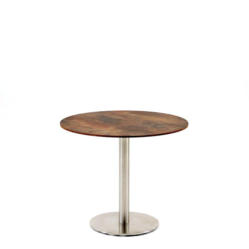 Gartentisch niehoff bistrotisch 68cm hpl grau braun for Design bistrotisch
