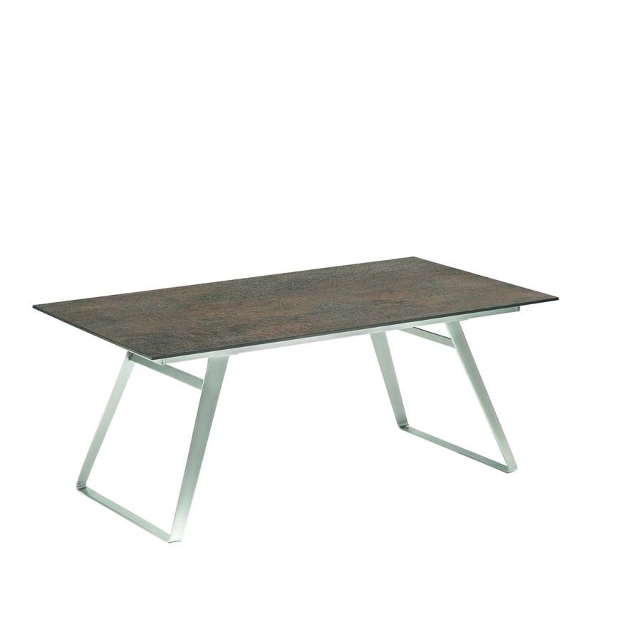 gartentisch niehoff ninon esstisch 200x95 hpl grau braun gartenm bel fachhandel. Black Bedroom Furniture Sets. Home Design Ideas